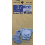 Motif - Iron On - Blue Teddy