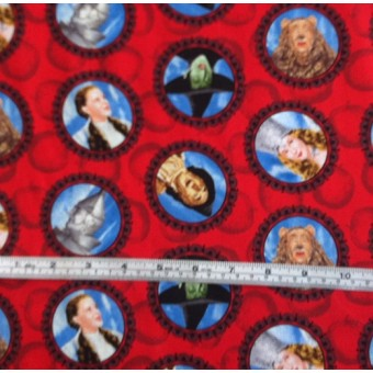 Wizard of Oz' on red b/g by Quilting Treasures #4