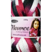 Flounce - Knitting Yarn - Black/Berry Mix