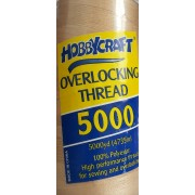 Overlocking Thread - Straw - 5000yd