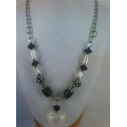Love Heart Necklace - Bead Kit - Classic Black & White
