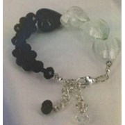 Touch Of Romance Bracelet - Bead Kit - Classic Black & White