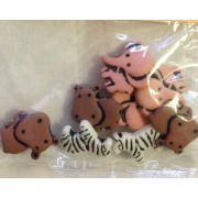 Buttons - Craft - Assorted Animals