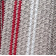 20mm Striped Elastic - grey red/white stripe