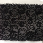 140mm Stretch Black Lace