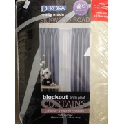 Blockout Pinch Pleat Curtains - Parchment