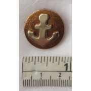 Buttons - 22mm - Silver Anchor on Gold