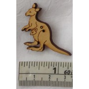 Buttons - Kangaroo (approx. 30mm x 32mm)