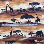Silhouettes on African animals by Timeless Treasures C047
