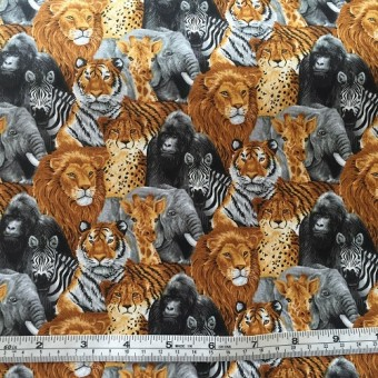 """It's a Jungle Out There"" African animals by Choice Fabrics"