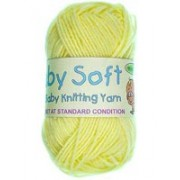 Baby Soft - 4 ply Baby Knitting Yarn - Lemon