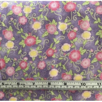 Sew Happy Floral (lilac) by Jean Tia
