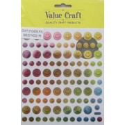 Craft Stickers - Foil - Smiley Faces
