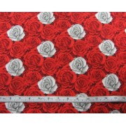 A Red Rose' by Fabric Freedom