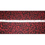 Red scrolls on black