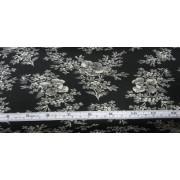 White flowers on black b/g