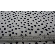 navy spots on white b/g