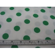 bright green spots on white b/g
