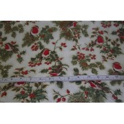 """Magical Xmas"", Robins and holly, F523 by Fabric Freedom"