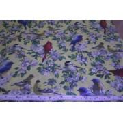 """Songbirds"", birds on yellow b/g by Cranston"