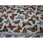 """Nature"", butterflies on cream b/g by Timeless Treasures #9262"