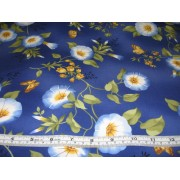 """Morning Glory"" on blue b/g by Timeless Treasures FLEUR-C4791"