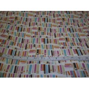 Books on cream b/g by David Textiles