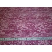 """Victoria & Albert Museum"", pink toille by David Textiles"