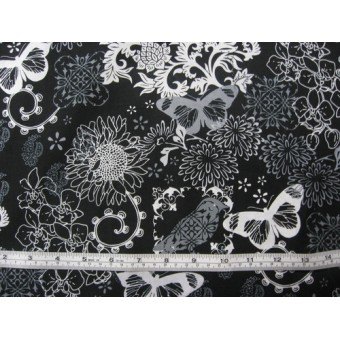 Inflight Butterflies and Paisleys', by David Textiles,