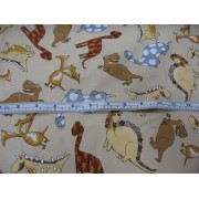 Dinosaurs on beige b/g by Timeless Treasures DINO-C7153