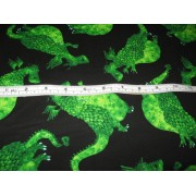 Green dragons on black b/g by Timeless Treasures DH-C6850