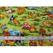Farm animals on green/lime b/g