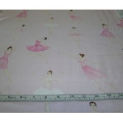 Ballerinas on pink b/g by Timeless Treasures (BL C-6009)