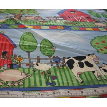 """Fun on the Farm"", stripes by Kay Toby"