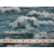 """Waves"" (aqua) by David Textiles TK7151-7C"