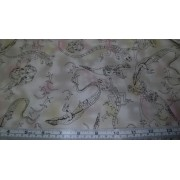 Lizard Toile - colour - natural by Max New