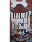 Doggie Delight Window   #1747, 60cm x 110cm by Loralie