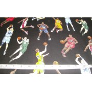 Basketball on black b/g by Timeless Treasures C5817