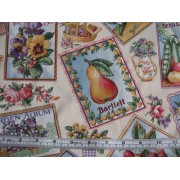 """""""Seed Catalogue"""", fruit, vegies and flowers by Concord Fabrics"""