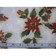 Poinsettias on cream b/g