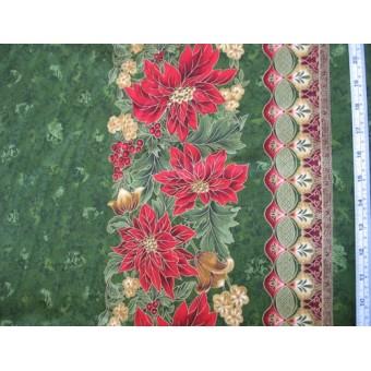 """Holiday Flourish III"" by Robert Kaufman #9764, bordered for tablecloths etc."