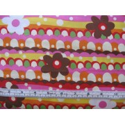 Pink, yellow, orange, cream, red, green, white and brown #74589-P
