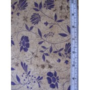 """Pottery"" Erlanger Group #2886, purple floral on light brown b/g"