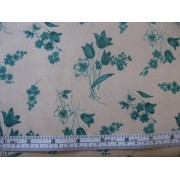 Hunter green floral on beige b/g #45882/T