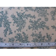 Hunter green floral on beige b/g #45949/T