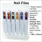 Babushka Glass Nail File