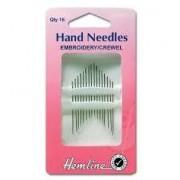 Hand Needles - Embroidery Crewel 5-10
