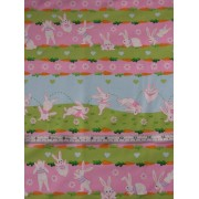 """Bunny Parade"" by Michael Miller C-2409, Stripe"