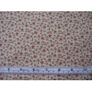 small orange flower on tea stain b/g #45585/T