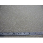 White floral on tea stain, #21677/T